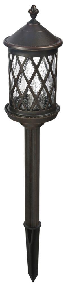 Hampton Bay Low Voltage Walklight - Dark Rust Finish
