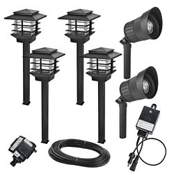 Hampton Bay Low Voltage LED Zen Light and Deluxe Micro Spot Light Kit (6-Pack)