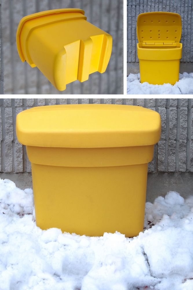 Outdoor Salt, Sand and Storage Bin in Yellow