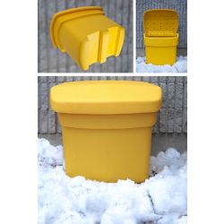 FCMP Outdoor Salt, Sand and Storage Bin in Yellow