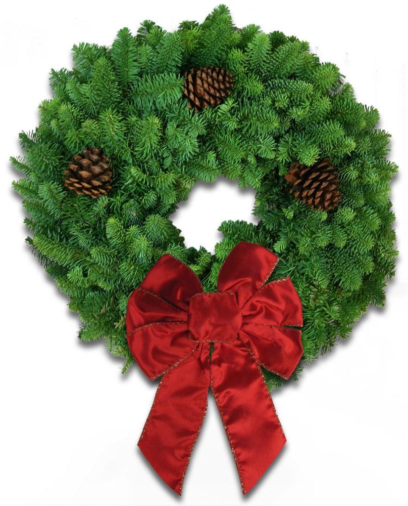 Wreath Fresh Cut Plain - 20 Inch