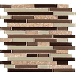 MSI Stone ULC Interlocking Glass/Stone Mesh-Mounted Mosaic Mosaic Wall Tile in Aspen