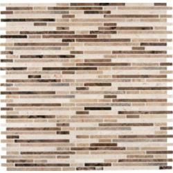 MSI Stone ULC Emperador Blend Bamboo 12-inch x 12-inch x 10 mm Brown Marble Mesh-Mounted Mosaic Tile