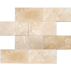 Ivory 3-inch x 6-inch Honed Travertine Floor and Wall Tile (1 sq. ft. / case)