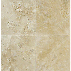 6-Inch x 6-Inch Honed and Filled Floor and Wall Tile in Ivory Travertine (1 sq. ft./case)
