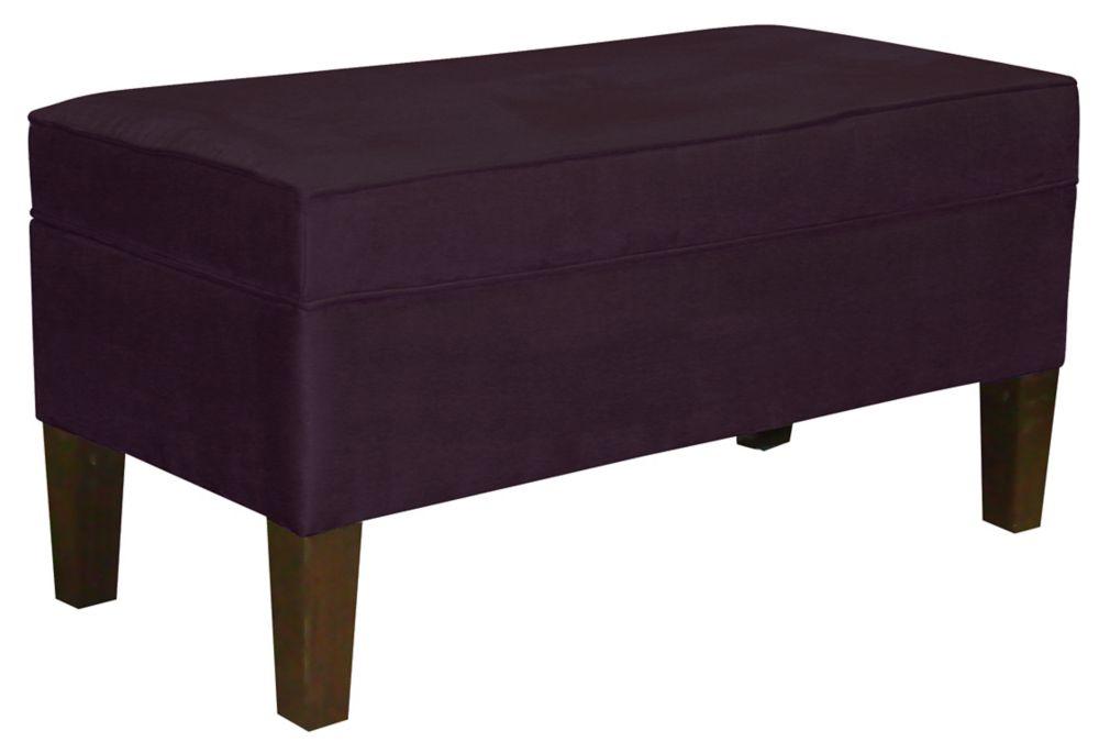 Storage Bench, Premier Microsuede, Purple