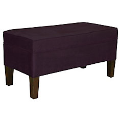 38.5-inch x 19.5-inch x 18.5-inch Manufactured Wood Frame Bench in Purple