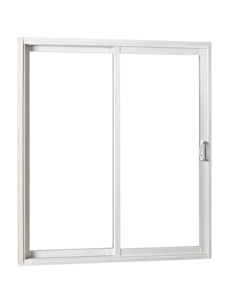 Right Hand Sliding Patio Door with Low E 5 ft. W x 79 1/2-inch H 5 3/8-inch Jamb Depth
