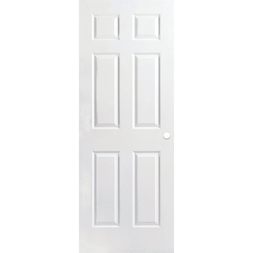 Masonite 30-inch x 80-inch Primed Textured 6 Panel Interior Door Slab