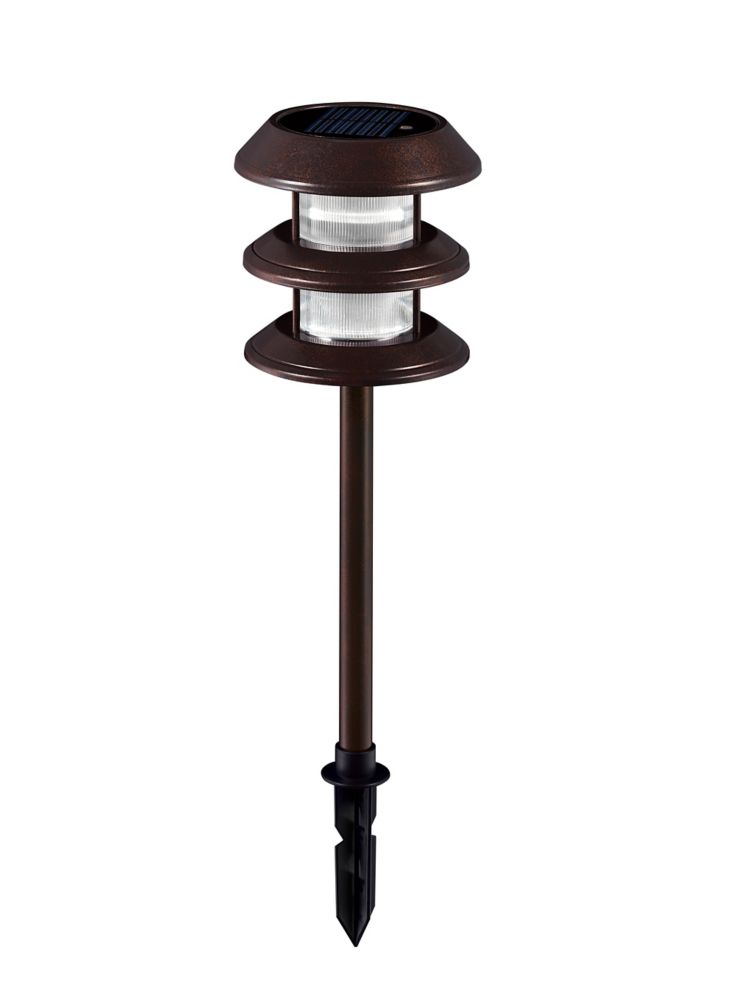 hampton bay 6 pack solar led landscape lights the home depot canada. Black Bedroom Furniture Sets. Home Design Ideas
