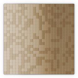 SpeedTiles Sahara Light Copper 11.50-inch x 11.50-inch x 5 mm Metal Self Adhesive Wall Mosaic Tile