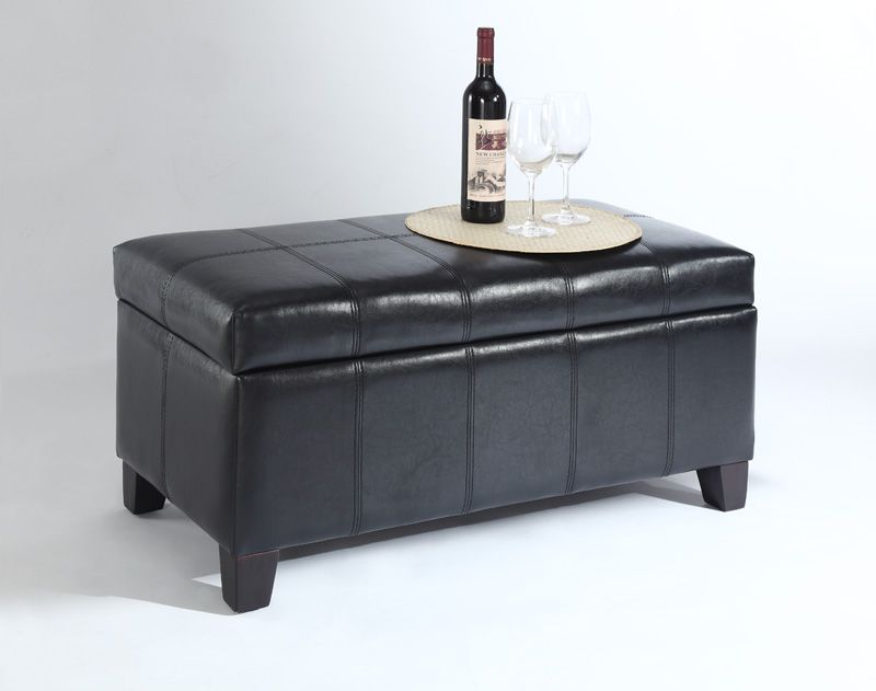 Bella Storage Ottoman - Brown