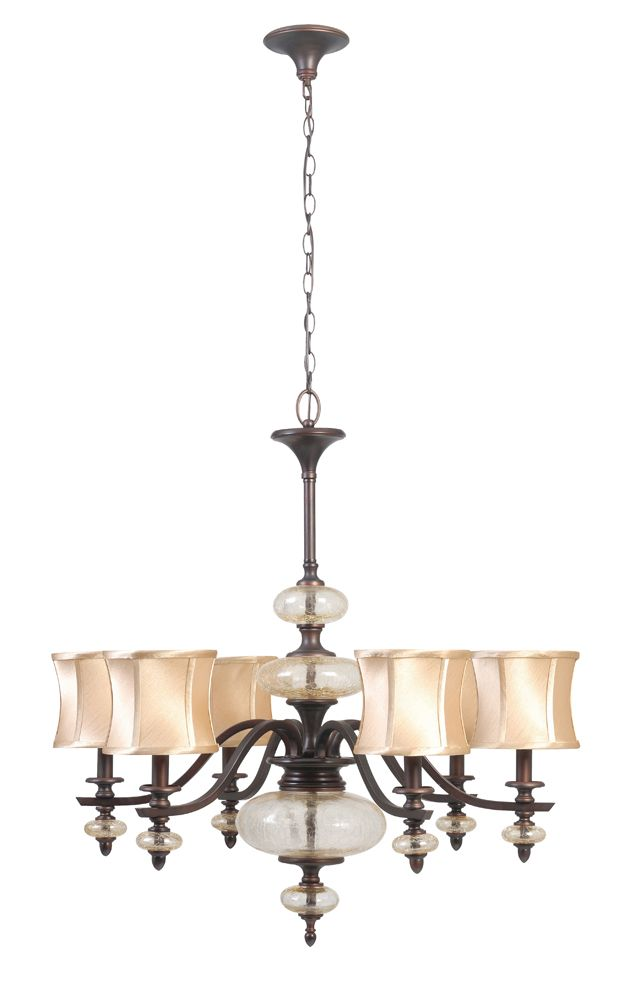 Chambord Collection 8-Light 120 in. Hanging Weathered Copper Chandelier