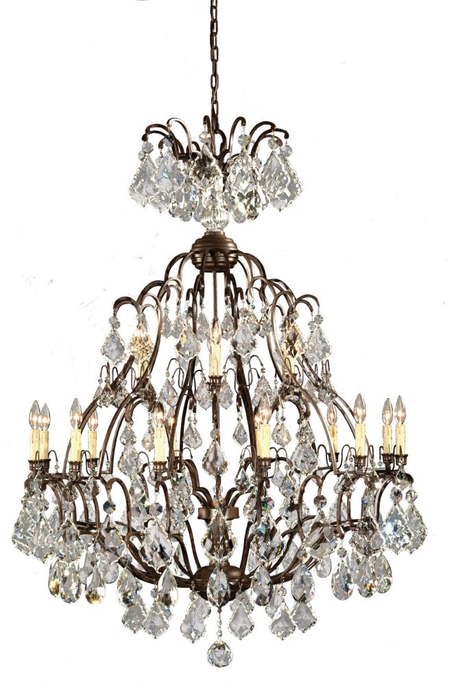 Lustre à 18 lampes au fini bronze de la Collection Timeless Elegance, 120 po