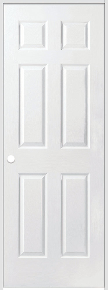 28-inch x 80-inch Righthand Primed 6-Panel Safe N Sound Solid Core Prehung Interior Door with Jamb