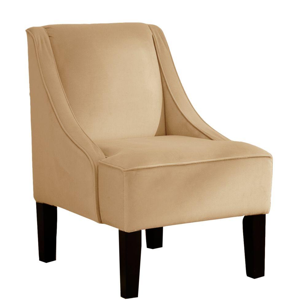 Swoop Arm Chair in Velvet Buckwheat