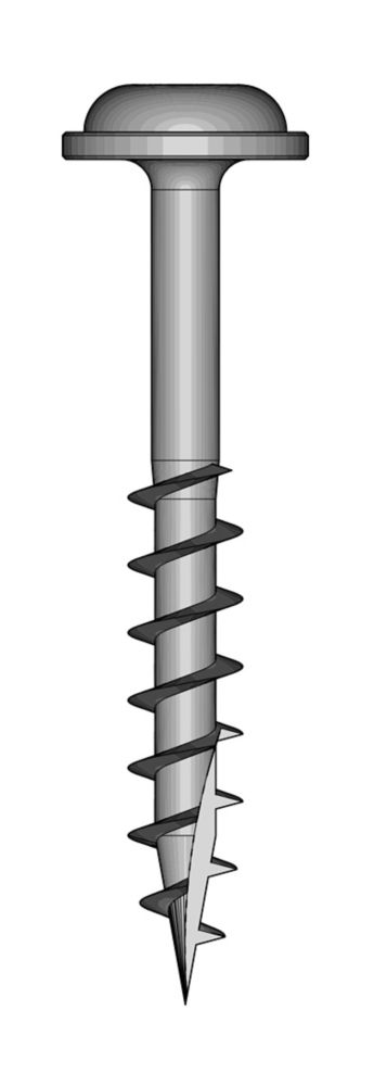Kreg Tool Company #8 1-1/4-inch Square Maxi-Loc Head Coarse Zinc-Plated Steel Pocket-Hole Screw (100-Pack)