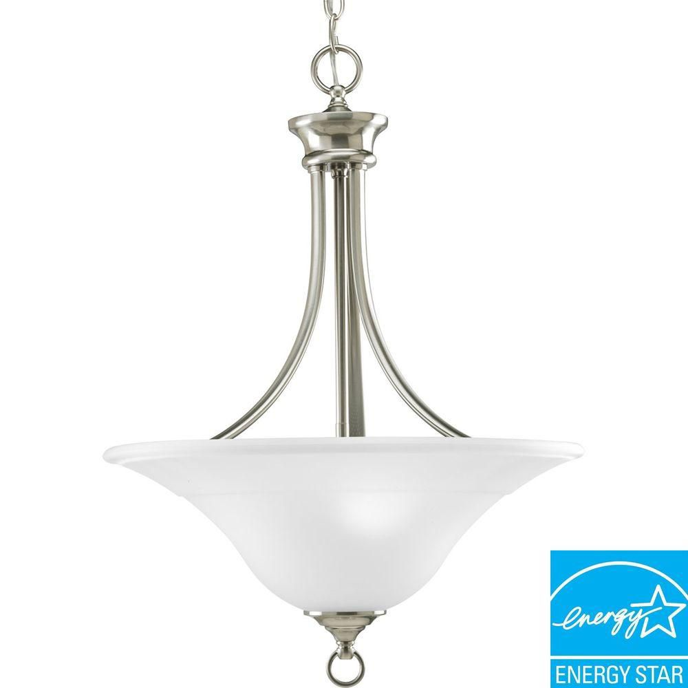 Trinity Collection Brushed Nickel 3-light Foyer Pendant