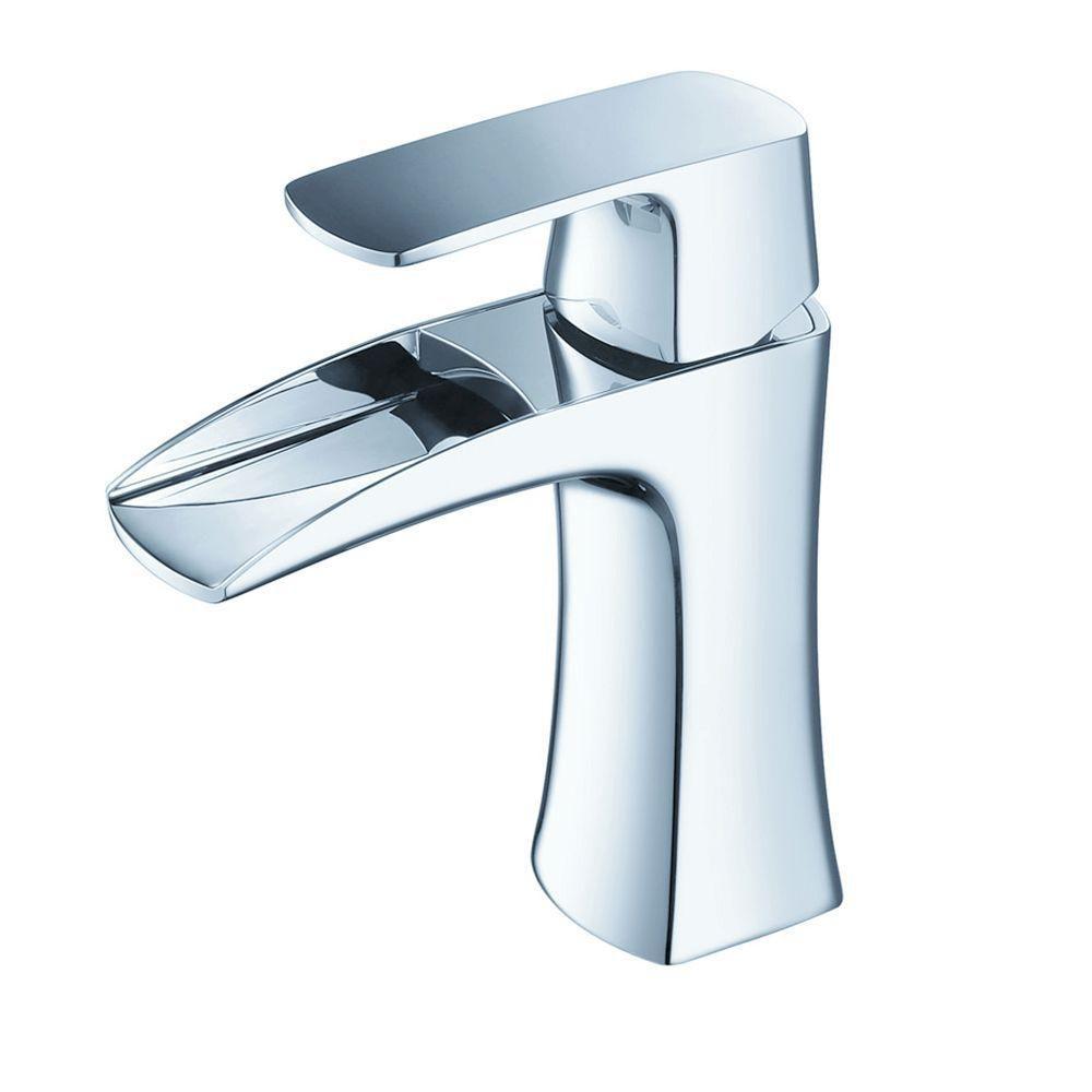 Robinet avec orifice unique pour meuble-lavabo Fortore - Chrome