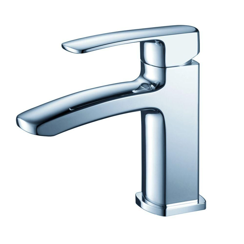 Fiora Single Hole Mount Bathroom Vanity Faucet in Chrome Finish