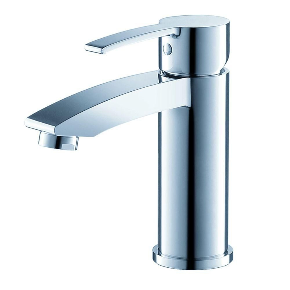 Fresca Livenza Single Hole 1-Handle Low Arc Bathroom Faucet in Chrome with Lever Handle