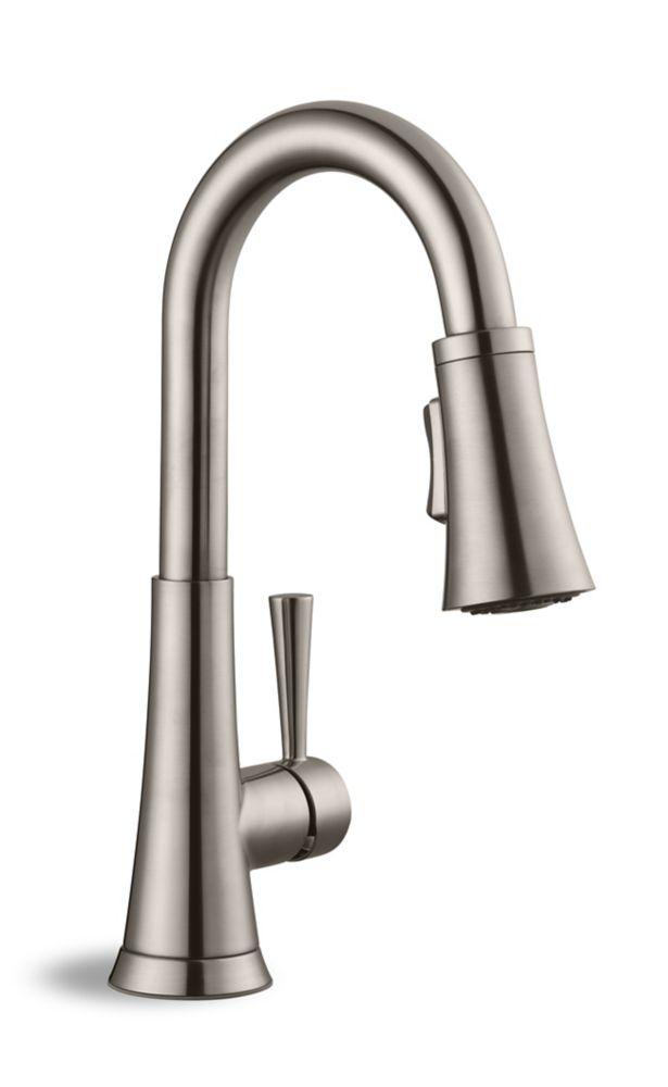 Le robinet de bar rétractable de la série 925 en nickel brossé