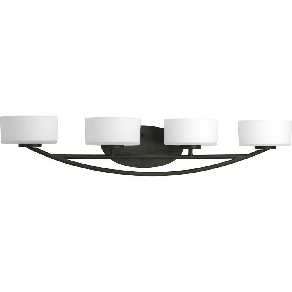 Calven Collection Forged Black 4-light Vanity Fixture