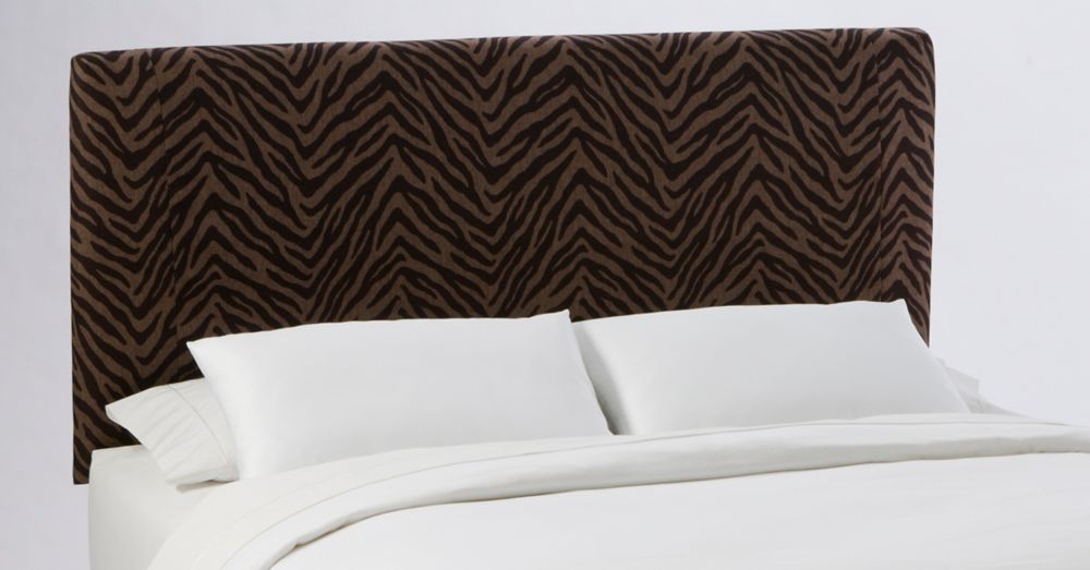 Queen Slip Cover Headboard in Bam Zizi