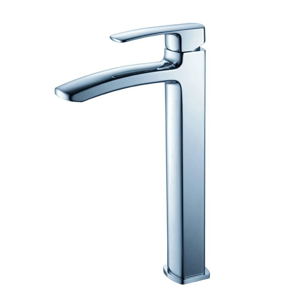 Fiora Single Hole Vessel Mount Bathroom Vanity Faucet in Chrome Finish