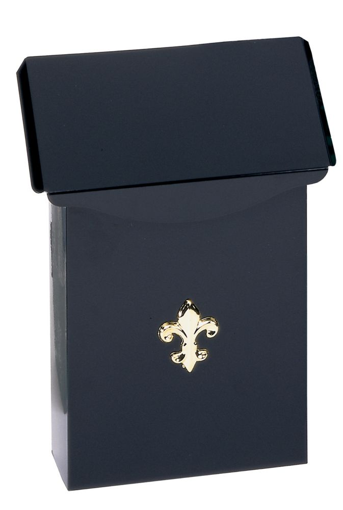 Gibraltar Industries Black City Classic Wall Mount Mailbox