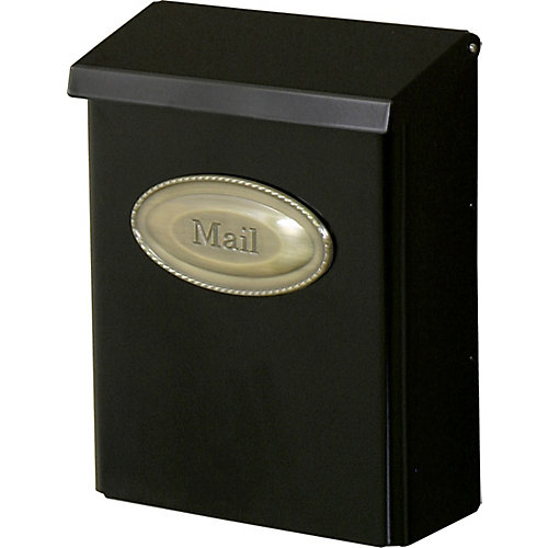 Designer Wall Mount Mailbox in Black