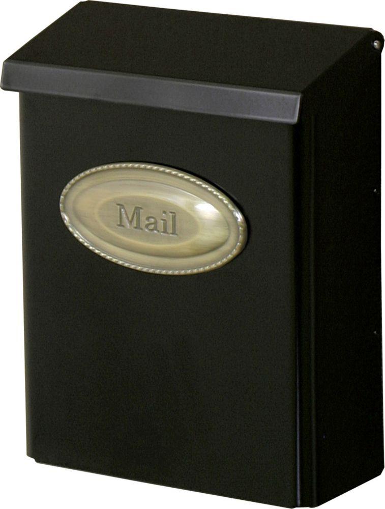 Black Designer Wallmount Mailbox