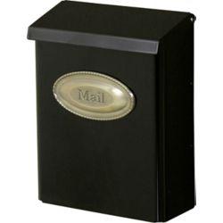 Gibraltar Industries Designer Wall Mount Mailbox in Black