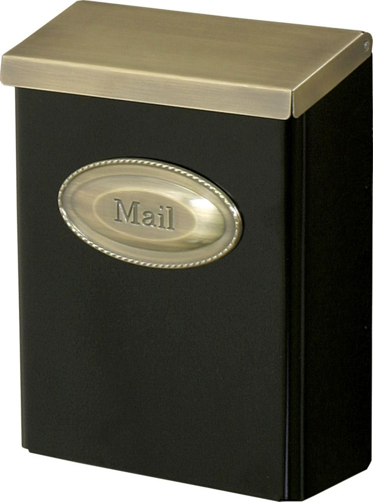 Gibraltar Industries Designer Wall Mount Mailbox In Black