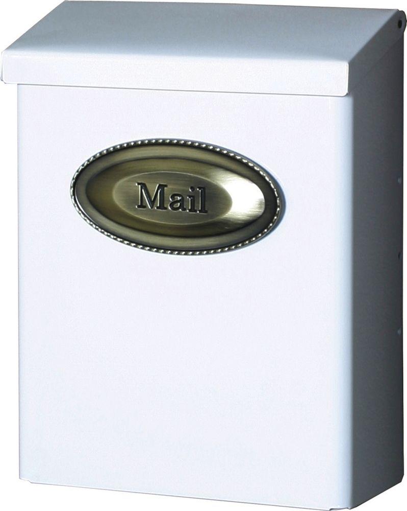 White Designer Wallmount Mailbox
