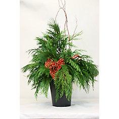 Festive Foliage Arrangement Urn Insert