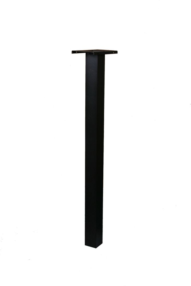 Gibraltar Industries Black Brighton Mailbox Post