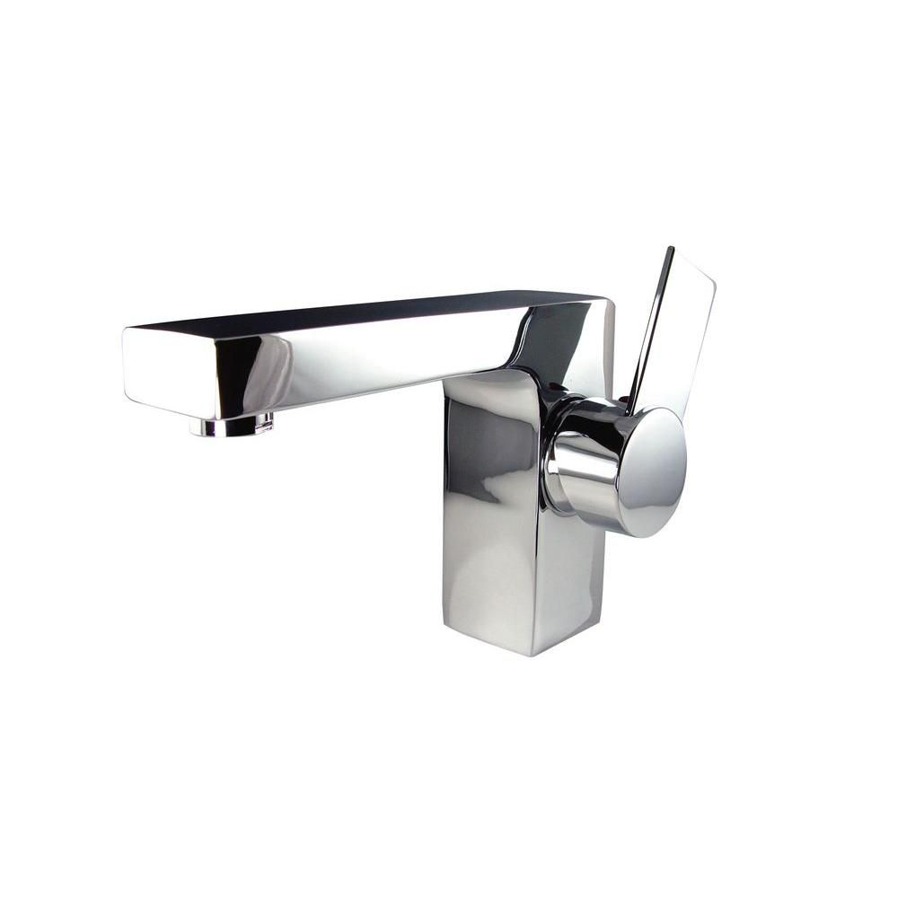 Isarus Single Hole Mount Bathroom Vanity Faucet in Chrome Finish
