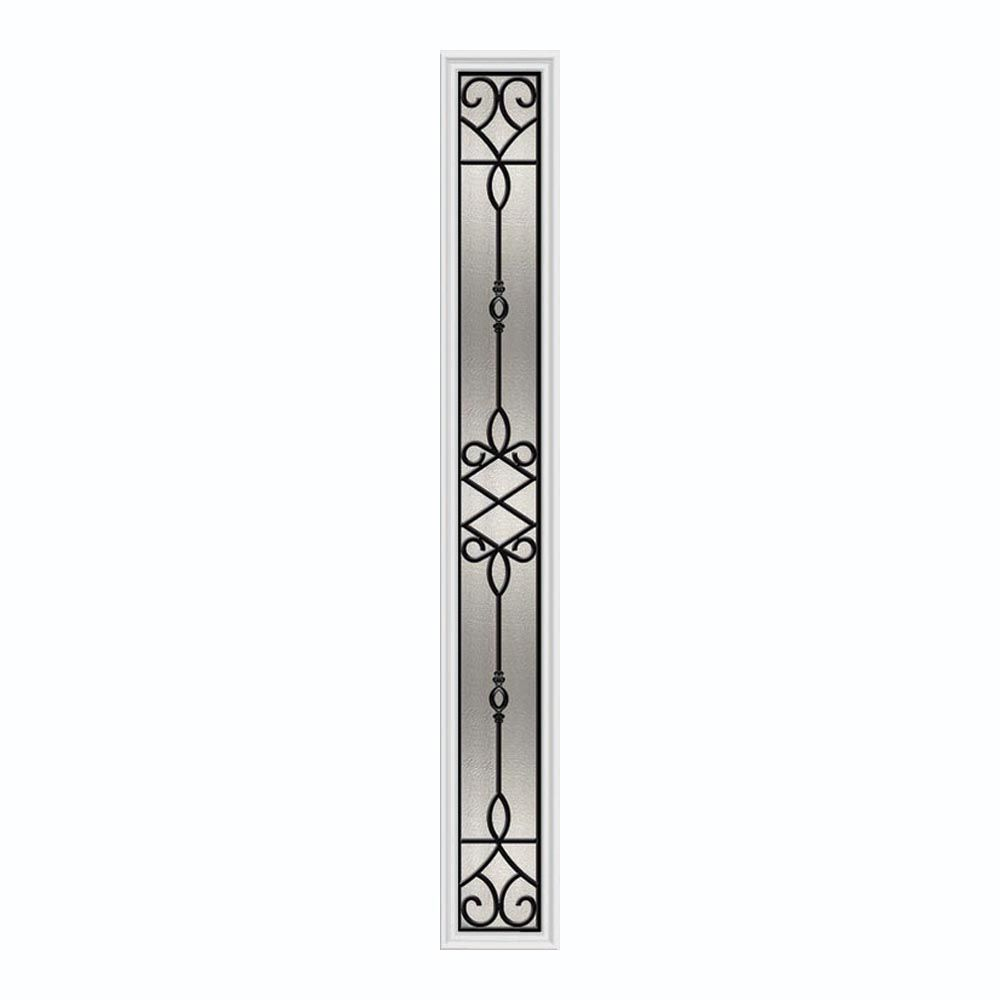 Sanibel 8-inch x 64-inch Sidelight Wrought Iron with HP Frame