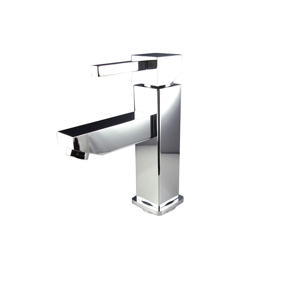Bevera Single Hole Mount Bathroom Vanity Faucet in Chrome Finish