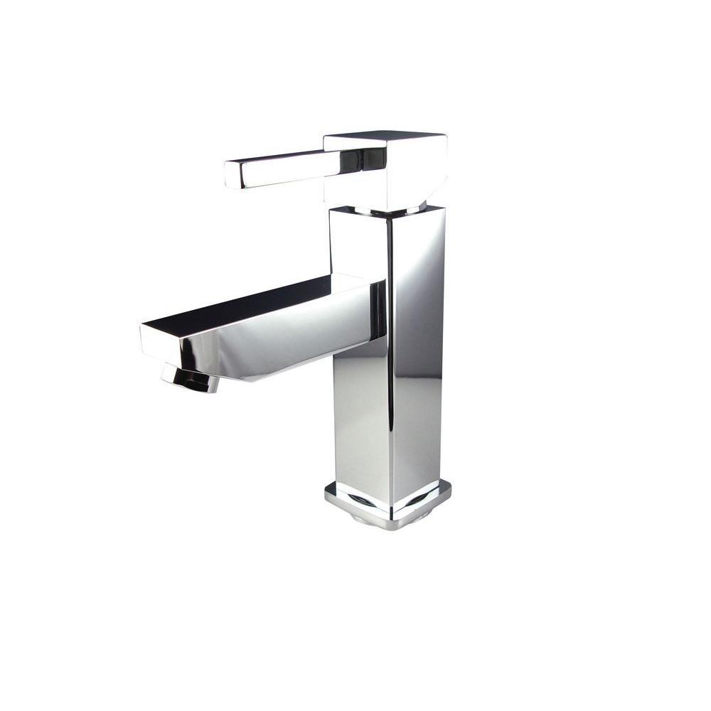 Bevera Single Hole Mount Bathroom Vanity Faucet in Chrome Finish