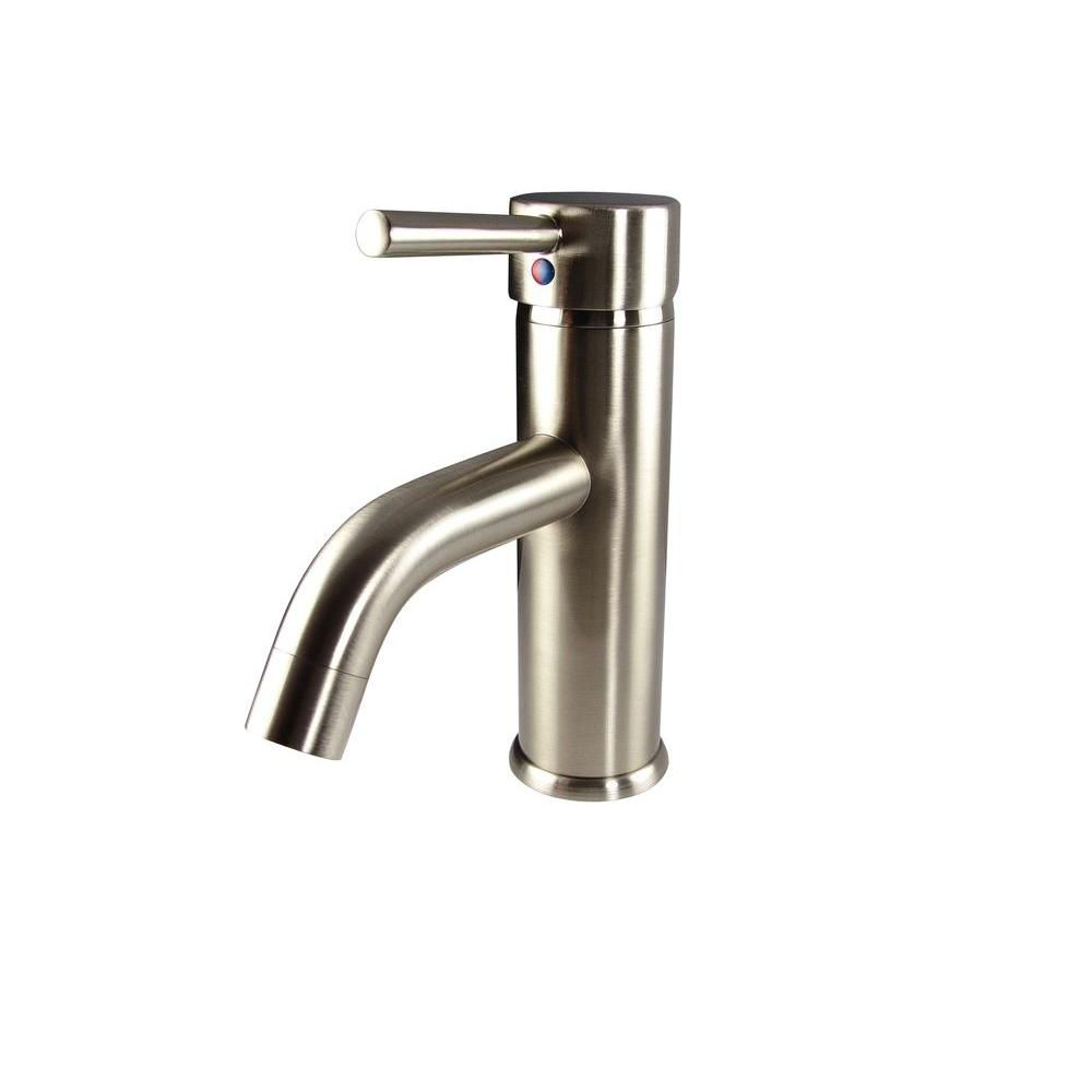 Sillaro Single Hole Mount Bathroom Vanity Faucet in Brushed Nickel Finish