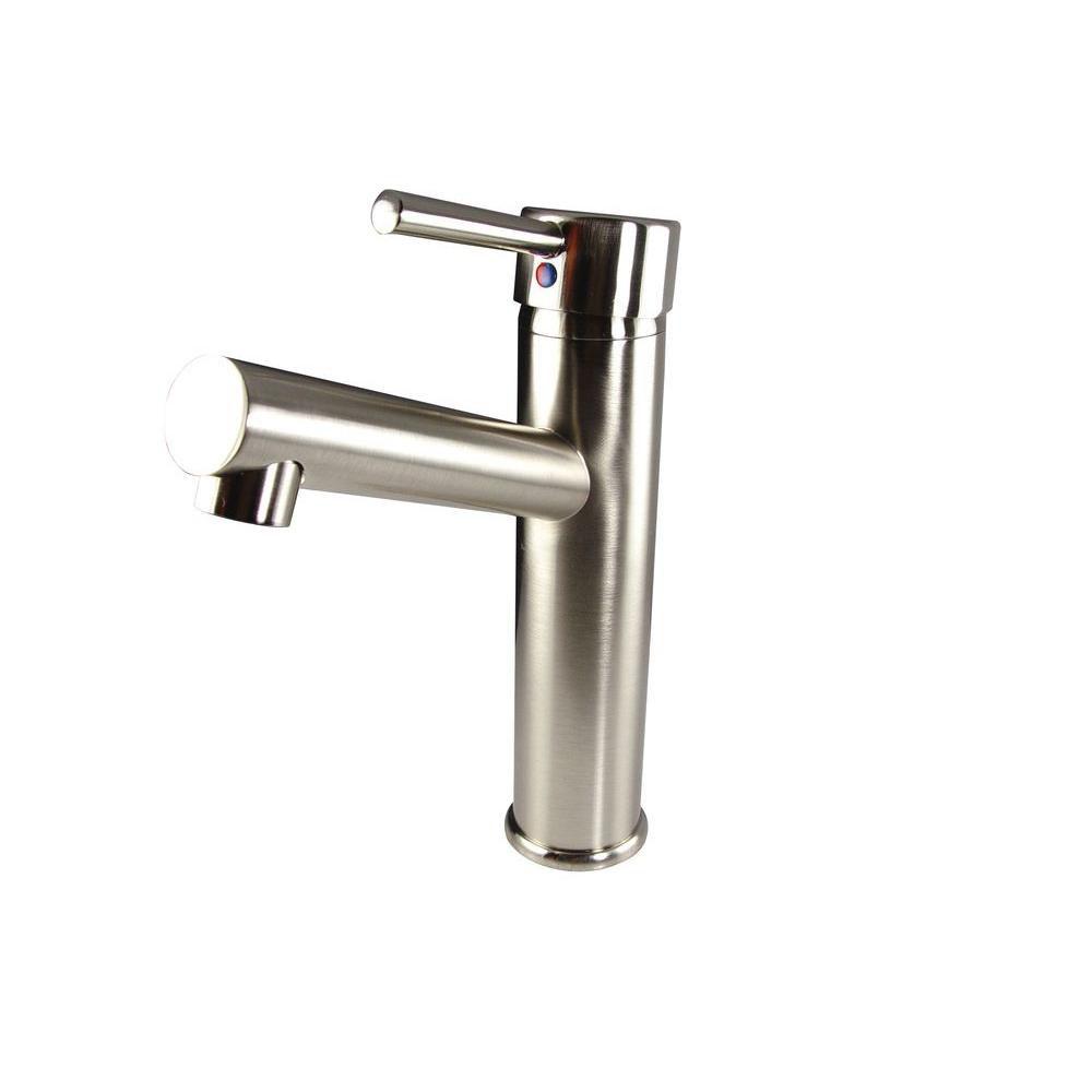 Savio Single Hole Mount Bathroom Vanity Faucet in Brushed Nickel Finish