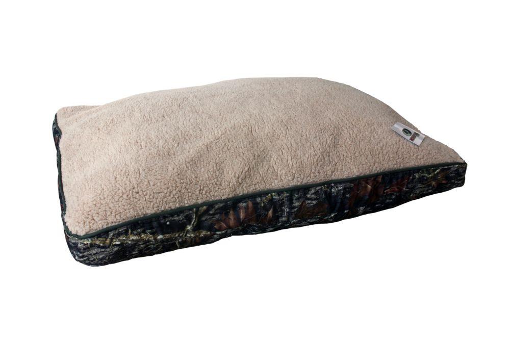 Mossy Oak - Rectangle Bed - Beige Sherpa Top  - 27 Inch X 36 Inch X 3 Inch