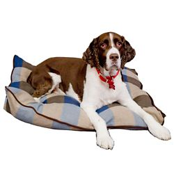 Danazoo Blue 27X36 Plaid Polar Fleece Pillow