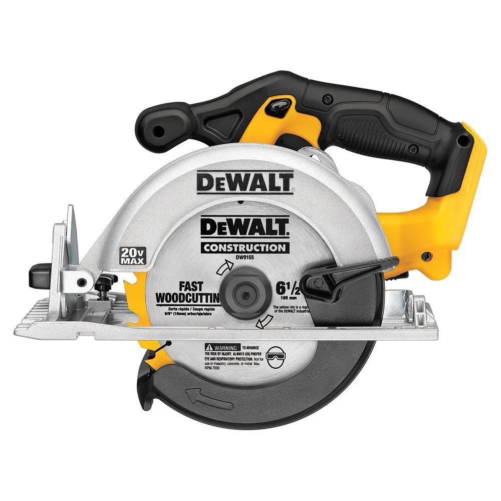 DEWALT MAX 20V Lithium-Ion 6 1/2-inch Cordless Circular Saw (Tool Only)
