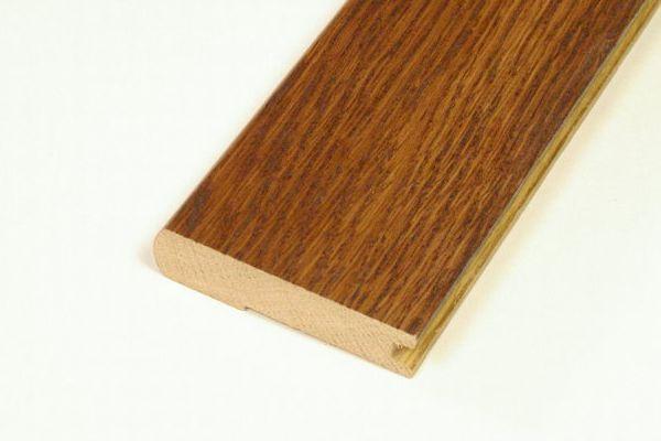 White Oak Brushed Hazelnut Stair Nosing - 78  Inch Lengths
