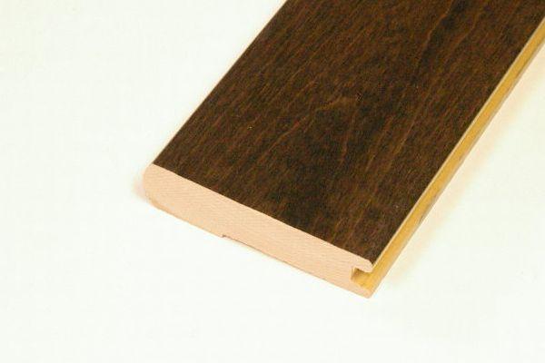 Birch Walnut Hand Scrapped Stair Nosing - 78  Inch Lengths