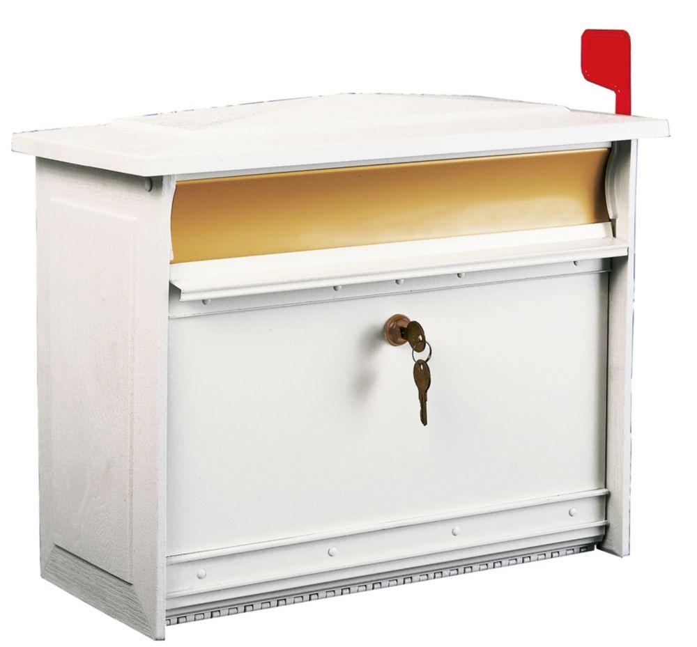 White Mailsafe Wallmount Mailbox