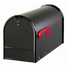 Elite 7-inch x 9-inch x 20-inch Curbside Mailbox in Black